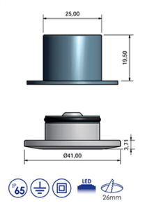 41mm push fit step diagram